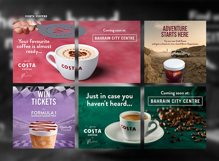 Social Media Managedment for Costa Coffee